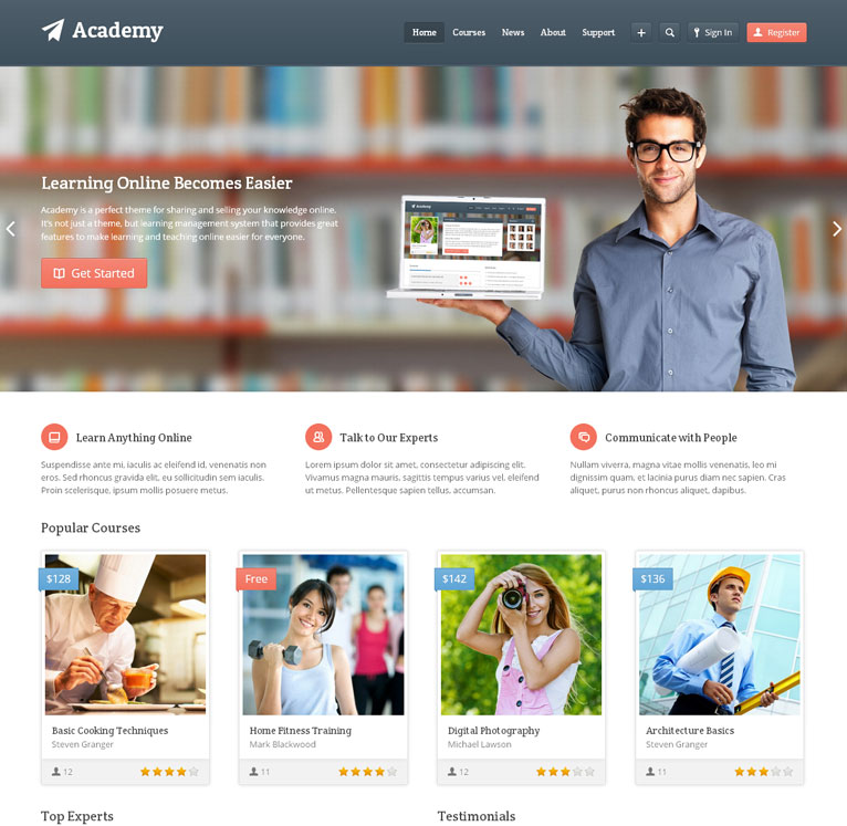 Academy - Learning Management App Theme