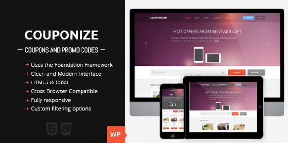 Couponize - Responsive Coupons and Promo Theme
