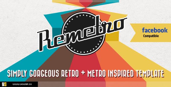 Remetro - Single Page Facebook Template