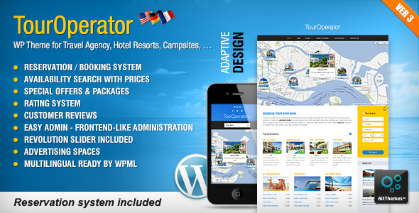Tour Operator - WP theme with Reservation System