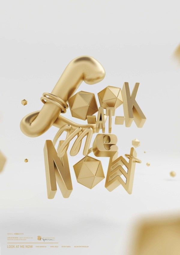 Create realistic gold 3D type