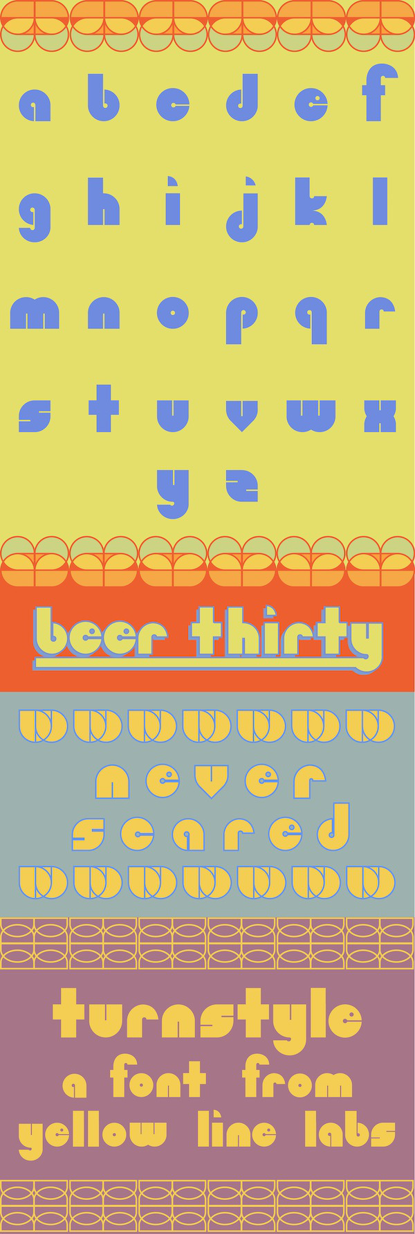 Turnstyle, A Free Lowercase Font