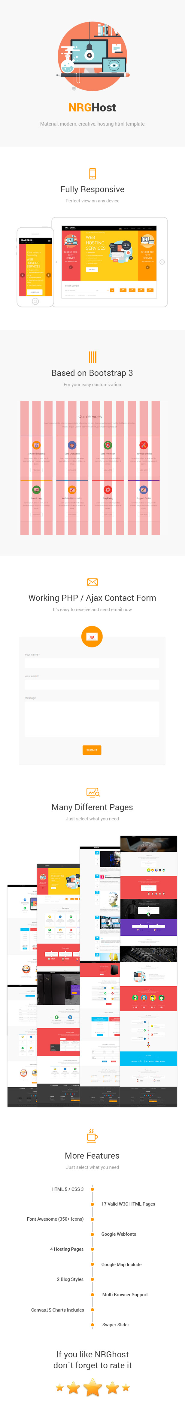 NRGHost Material - HTML Hosting Template