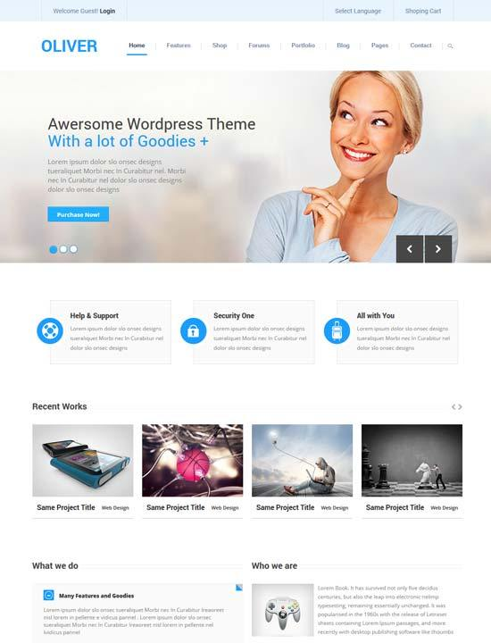 Oliver – Responsive Business Bootstrap3 HTML5 Template