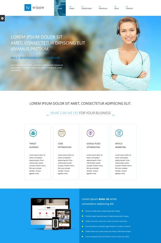 Wippe – Responsive HTML Business Template