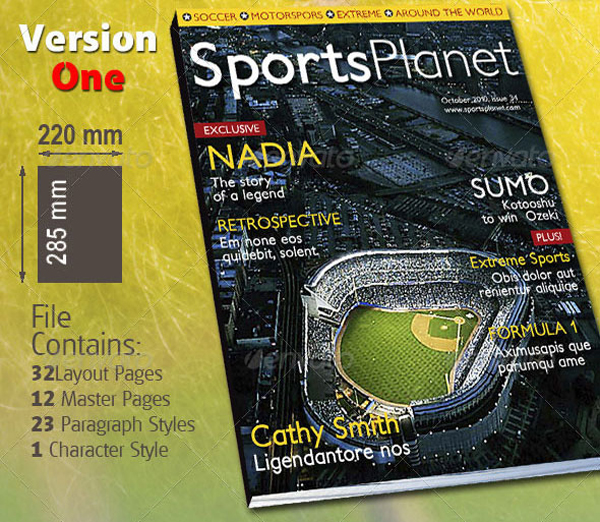 32 Pages Sports Magazine