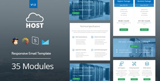 Host - Hosting Responsive Email Template + StampReady Builder
