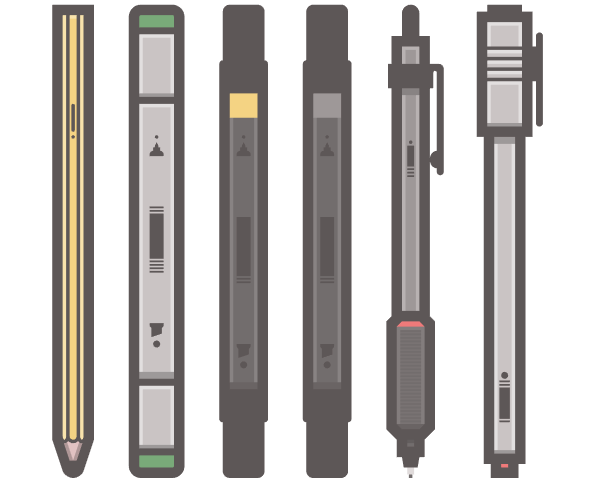 How to Create a Flat Styled Set of Writing Tools