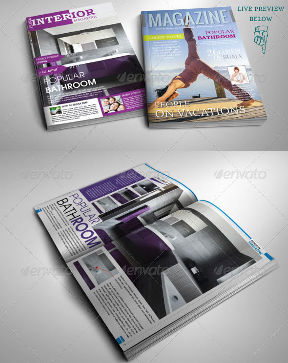Indesign Magazine Templates 50 Pages