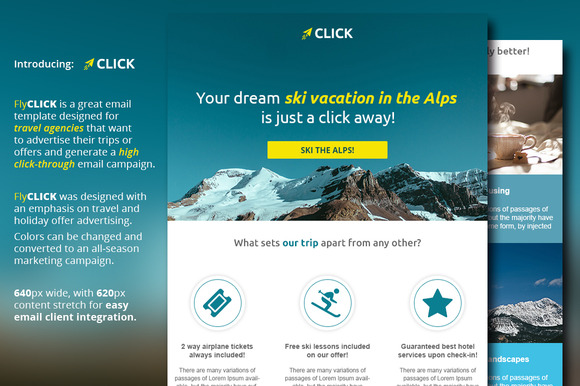 Travel & Vacation Email Template