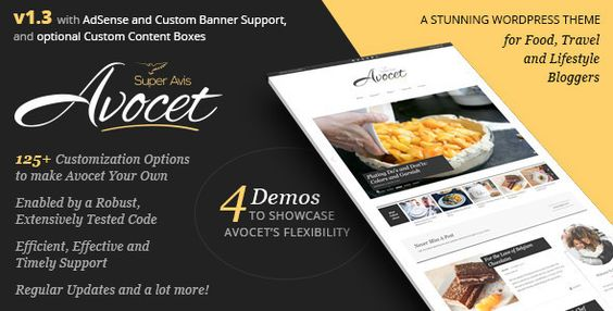 Avocet WordPress Blog Theme - for Lifestyle, Food, Travel and Fashion Bloggers