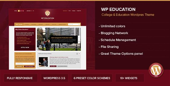 WP Education - Responsive, professional and powerful education theme
