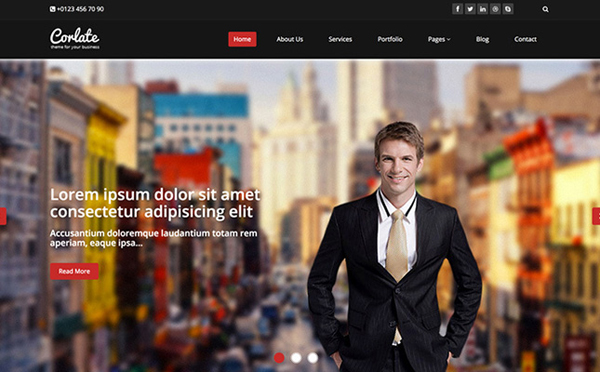 Corlate – Free Responsive Business HTML Template