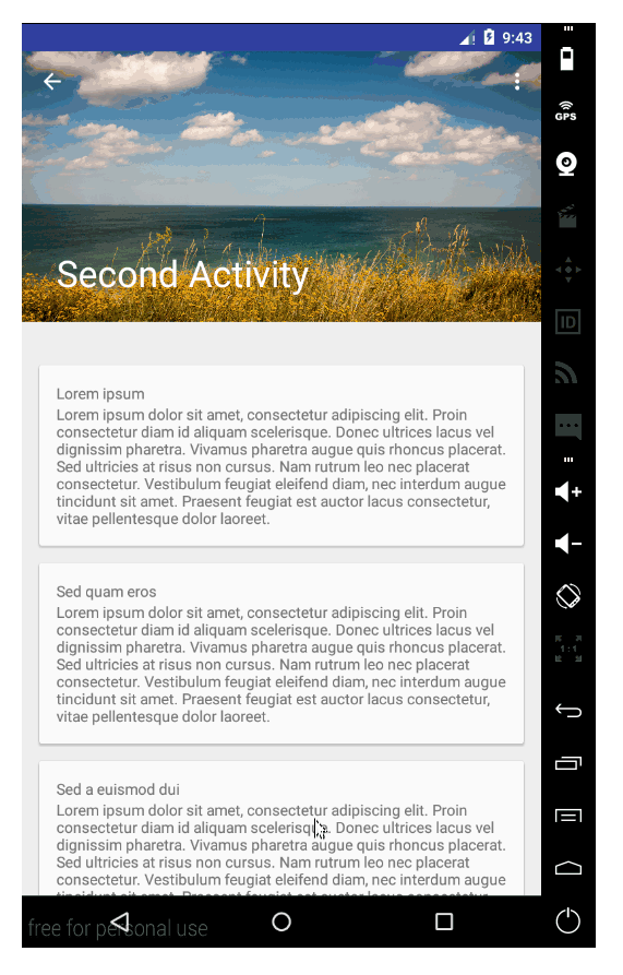 Material Design with the Android Design Support Library