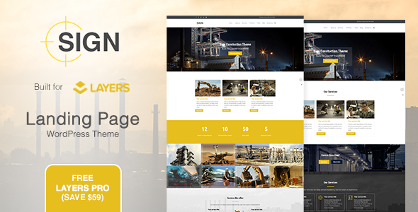 Sign - Factory - Industrial - Construction Responsive Layers WordPress Theme