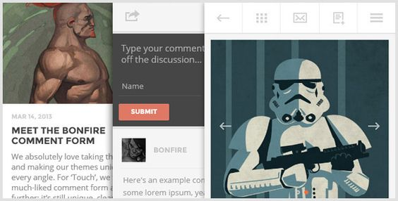 TOUCH - A Lighter-than-air WordPress Mobile Theme