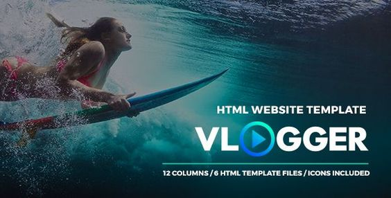 Vlogger - HTML Video Website Template for Youtubers, Online Courses and Video Makers