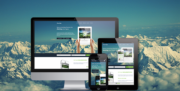 App / Application Muse Landing Page / Theme
