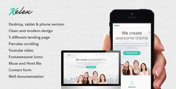 Kelex - Clean and Modern Landing Page Muse Template